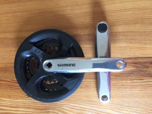 Shimano FC-M131 Altus Square Taper 3 x 6//7//8s Bike Crankset 170mm 42//34//24T NEW