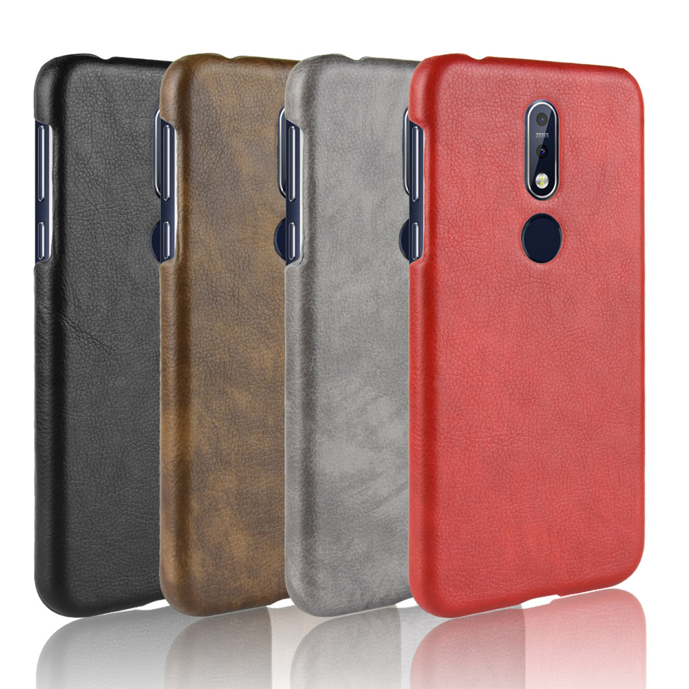 For <font><b>Nokia</b></font> 7.1 <font><b>Case</b></font> For <font><b>Nokia</b></font> 8.1 <font><b>Case</b></font> Litchi Skin Pattern PU Leather and PC Book Cover For <font><b>Nokia</b></font> 8.1 <font><b>2018</b></font> Nokia7.1 Phone <font><b>Case</b></font> image