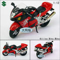 Jun Ji 1:12 SUZUKI GSX 1300R llama azul. Falcon aleación modelo de motocicleta/regalo exquisito