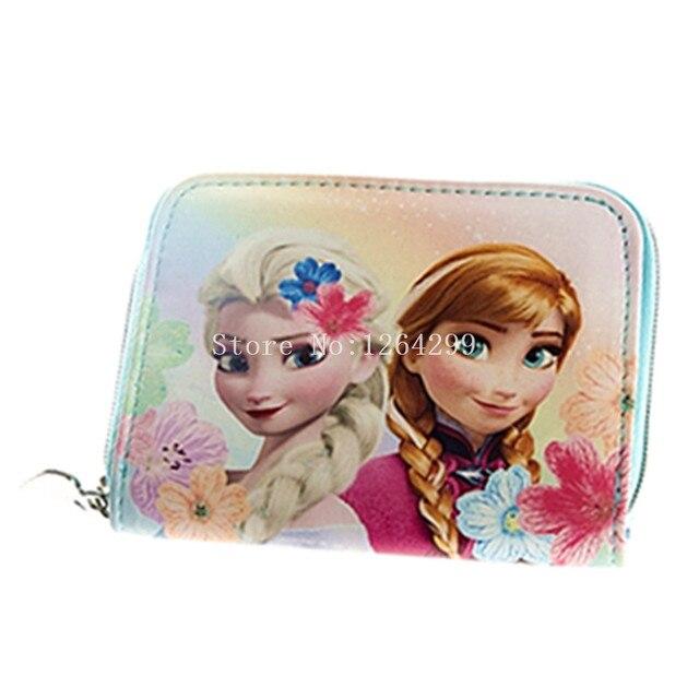 New Fashion Elsa and Anna Princess Girls Kids Mini PU Coin Purse For Children Gifts