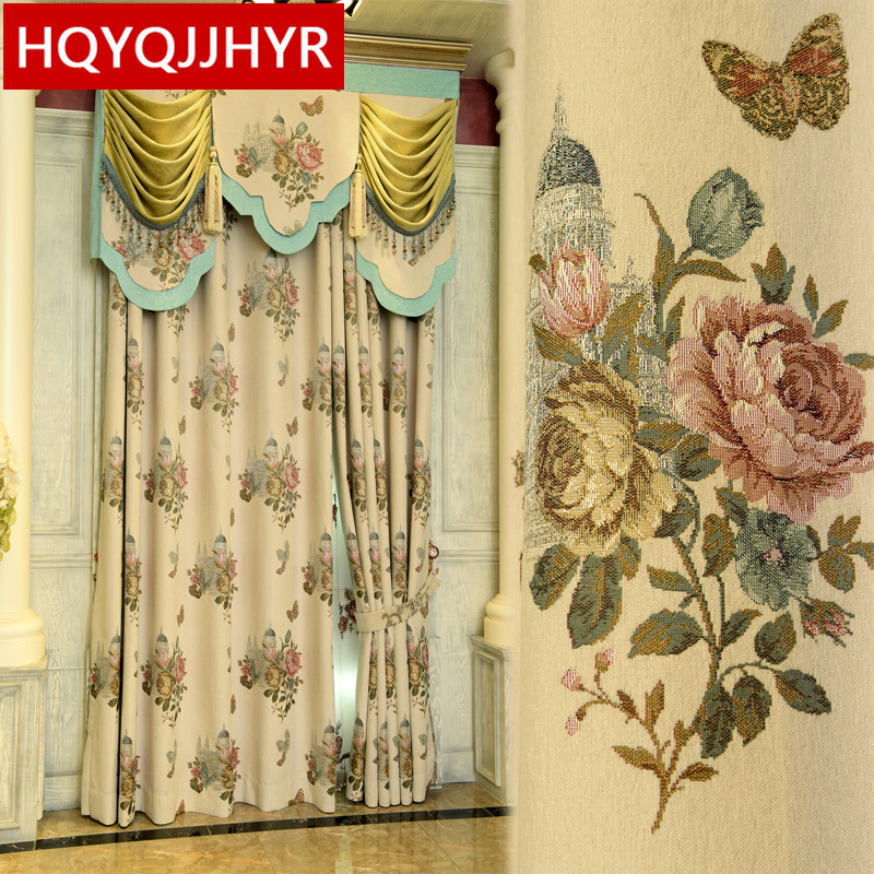 Aliexpress Com Buy High Quality Thick Flocked Modern: Top European And American Thick High Quality Jacquard