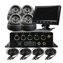 4CH SD GPS Track Car Vehicle DVR Video Recorder System 9″ Screen IR CCTV SONY Dome Camera For Truck Van Bus Free Shipping
