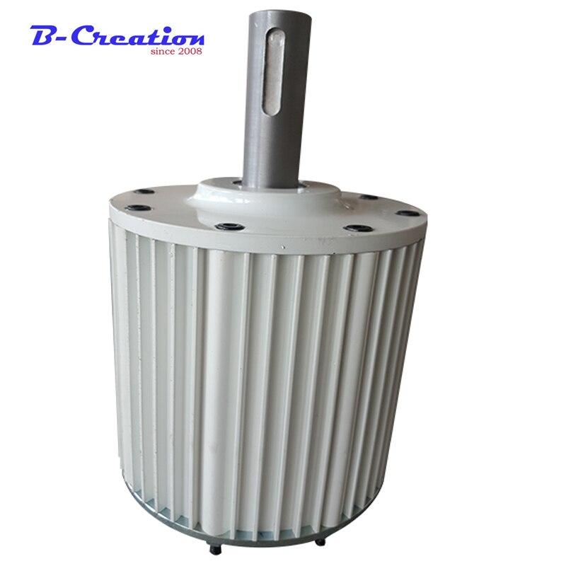 MAX 2.3KW Générateur 2kw Générateur D'énergie Éolienne Alternateur 48 v 96 v 110 v 220 v Bas Régime Aimant Permanent haut Efficace Brushless