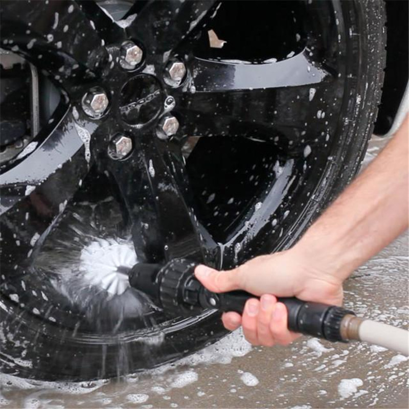 360 Rotating Brush Hero Military Grade Water-driven Rotary Cleaning Brush Clean Artifact Hand-held Waterjet Brush Drop Shipping