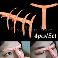 4pcs/Set Eyebrow Permanent Makeup Tool Eyebrows Tattoo Stencil Ruler Marker Template Eye Cosmetic Magical Grooming Shape Model