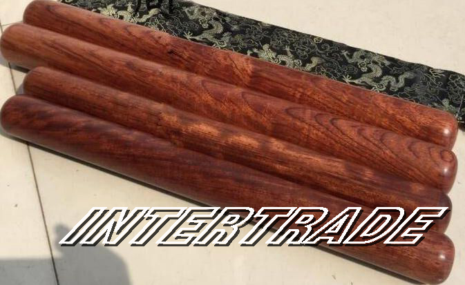 rosewood Wooden tai chi ruler rods fitness bar wushu stick king fu martial arts sticks 48cm