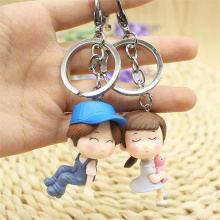 Fashion Queen King Keychain Love Couple Keyring Wedding Commemorative Gift Accessory Pendant