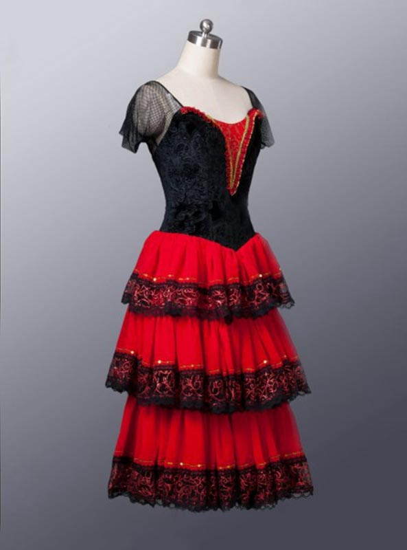 Image 2 - Don Quixote Adult Red Romantic Tutu Spanish Kitri Ballet Dress women Professional Tutu Ballet Spanish Dance Costume for girlsBallet   -