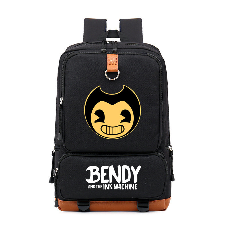 Cartoon Bendy And The Ink Machine Boy Girl Children School bag Women Bagpack Teenagers Schoolbags Canvas Men Student BackpackCartoon Bendy And The Ink Machine Boy Girl Children School bag Women Bagpack Teenagers Schoolbags Canvas Men Student Backpack