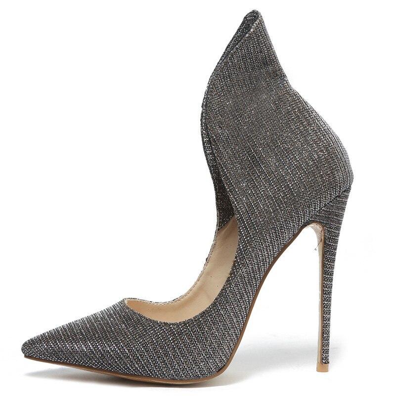Fedonas De Femmes 2019 Bout Chaussures Talons Bal 2 Glitter Cm 12 Danse Parti Nouveau 1 Mariage Femme Hauts Tissu Pointu Sexy Pompes OrEwqr5Szx