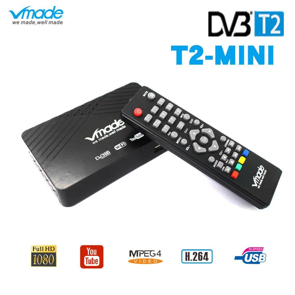 Vmade le plus récent récepteur DVB-T2/T récepteur TV HD récepteur terrestre numérique H.264 MPEG-2/4 prend en charge le décodeur standard Youtube PVR