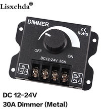 LED Dimmer DC12-24V 8A 30A 96W 360W Adjustable Brightness Lamp Strip Driver Single Color Light Power Supply Controller 5050 3528(China)