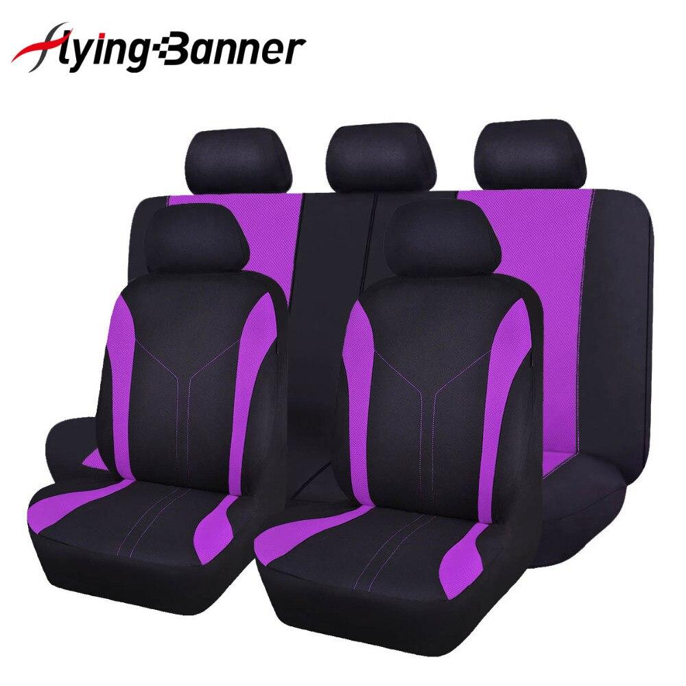 FlyingBnanner housses de siège de voiture en tissu maille universel pour la plupart des véhicules sièges accessoires intérieurs housse de siège de voiture protecteur 4 couleurs