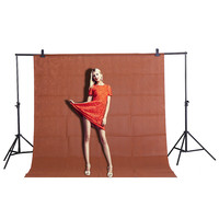 Free shipping 1.6x3m / 5.2 * 10ft Coffee color DIY Length Photography Studio Backdrop Background Screen for imageCD15