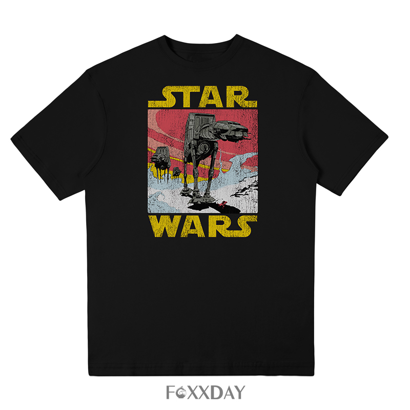 2018 Men t shirt fashion Cool Star Wars Empire Tee shirt vintage style robot White hip pop funny Short sleeve t-shirt summer