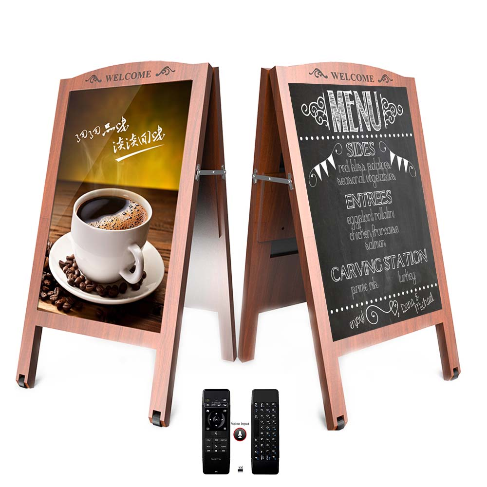 32 Inch Android Standing Poster KIOSK-commercial Digital Signage Display With 2.4G Remote Ideal For Coffee House, Restaurant