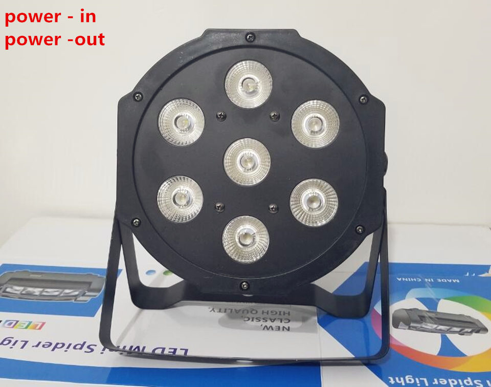 CREE RGBW 4in1 7x12W led par DMX Stage Lights Business Led Flat Par High Power Light with Professional for Party KTV Disco DJ