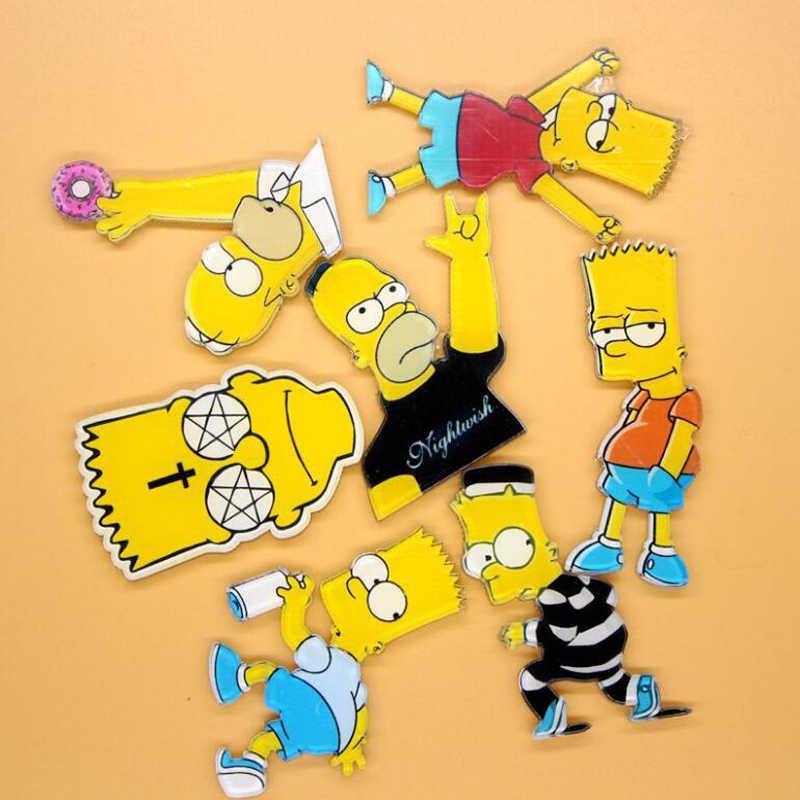 1 PC Acrylic Bros Kartun Anime Simpson Pakaian Bros Pins Bros Ransel Mahasiswa Tas Dekorasi Bros Lencana