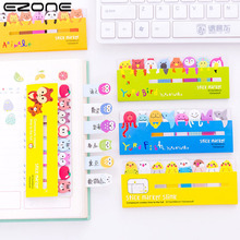 EZONE Kawaii Cartoon Sticky Note Design Of Cat/Dog/Bear Shape Memo Pad N Times Bookmark Sticker Noteoad School Supply