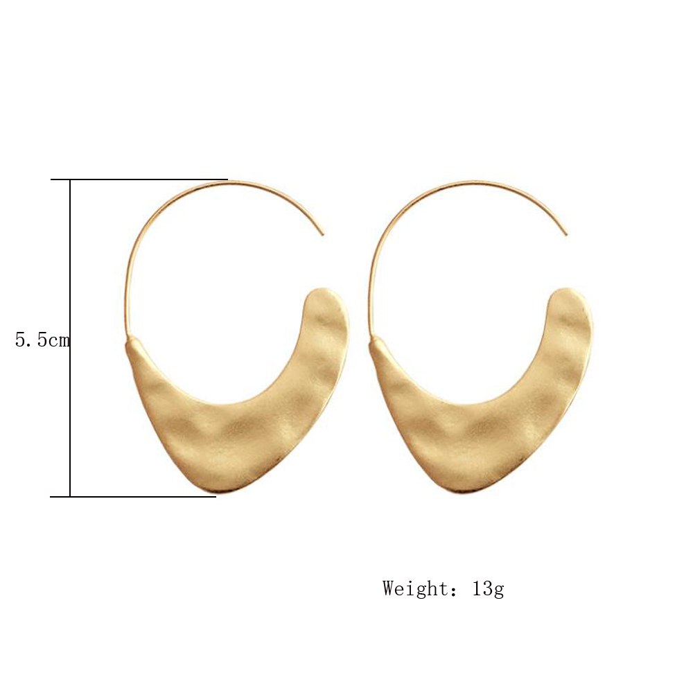 Legenstar 19 New Fashion Hammered Earring For Womens Gold Color Meatal Jewelry Alloy Geometric Hoop Statement Earrings 2