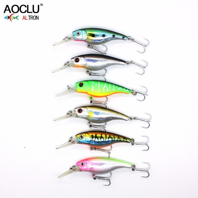 AOCLU wobblers Jerkbait 6 Colors 4cm 2.5g Hard Bait Small Minnow Crank Fishing lures Bass Fresh Salt water tackle Floating lure