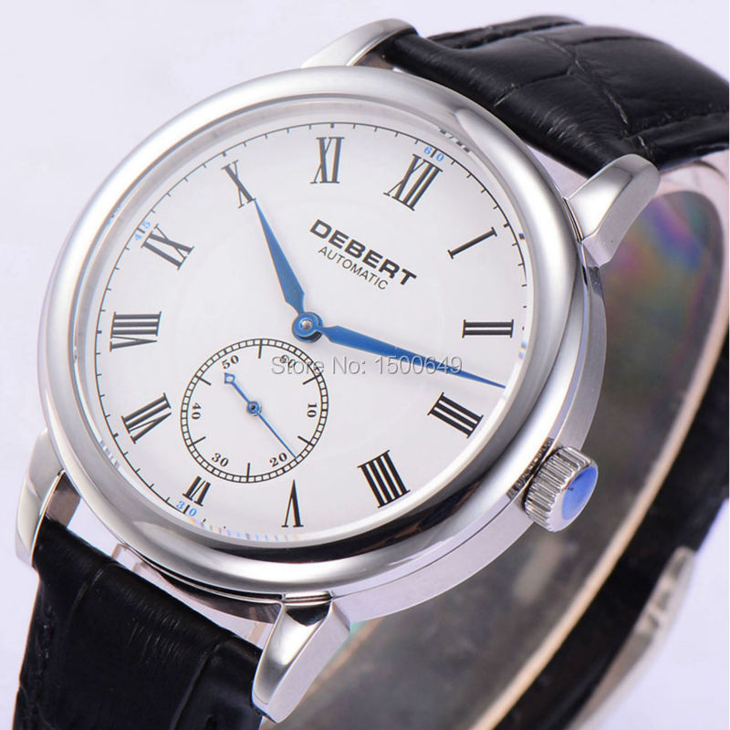 Debert 40mm white dial st1731 self winding automatic movement Sapphire Glass Automatic men Watch 1962