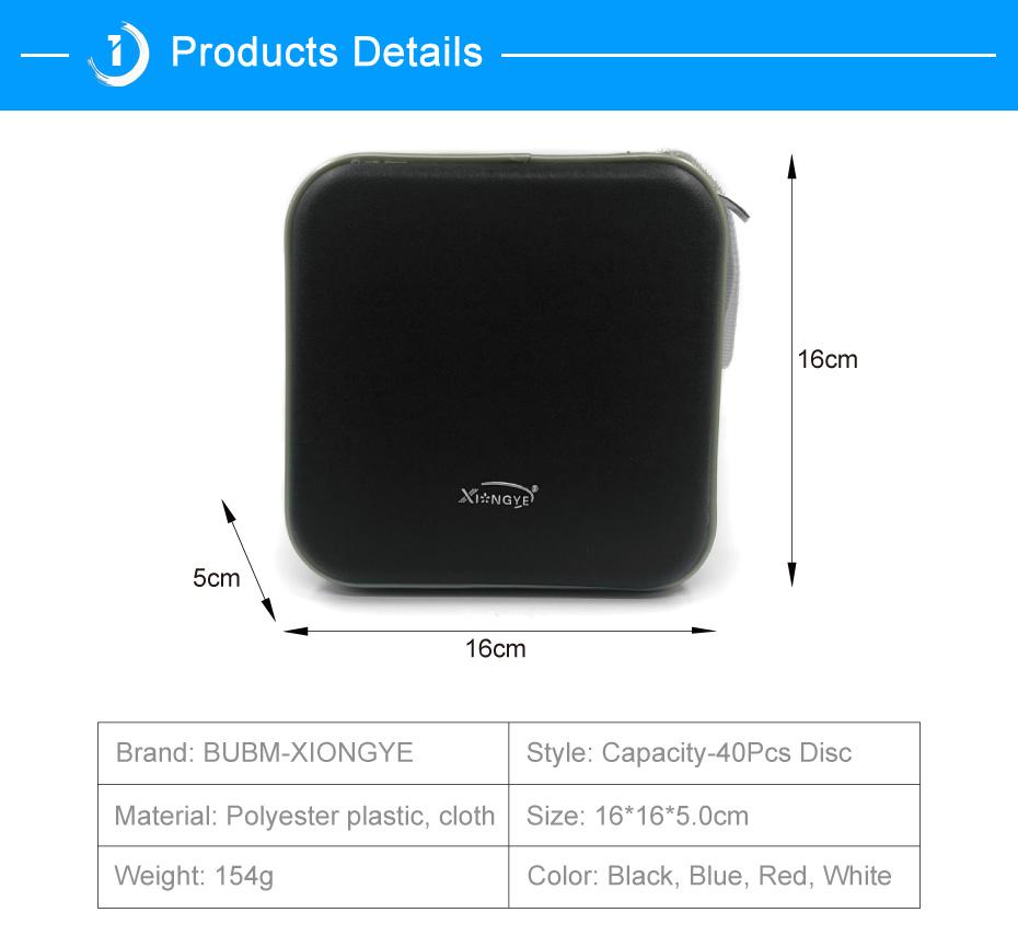 BUBM Durable CD Case 40pcs Discs Portable CD Bag DVD Case Storage Holder DVD Bag Fashion Useful CD Case For Car Bags (8)