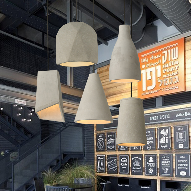 Nordic art creative Cement lamp pendant lights restaurant personality living room bedroom bedsid decorations lamps босоножки ideal shoes ideal shoes id005awtjm21