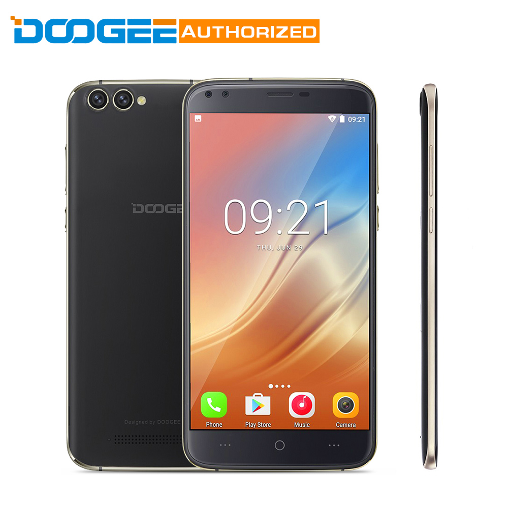 Newest DOOGEE X30 2GB+16GB Mobile Phone Quad Cameras 2x8.0MP+2x5.0MP Android 7.0 3360mAh 5.5'' HD MTK6580A Quad Core Smartphone