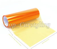1 Roll Orange Headlight tint film Vinyl rear With 3 Layers car lights tinting Tail lights FOILE tint size 0.3x10m/Roll PROTWRAPS