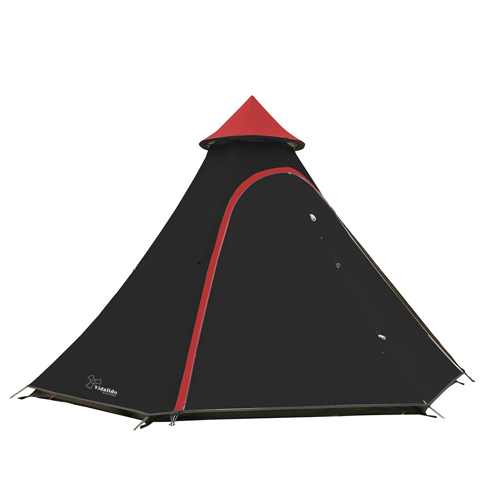 New Pyramid Indian camping tent 4-6 person outdoor family yurt Ultra-light double layer driving filed tent fireproof materialNew Pyramid Indian camping tent 4-6 person outdoor family yurt Ultra-light double layer driving filed tent fireproof material