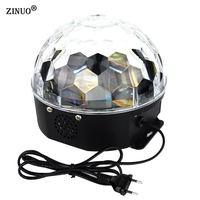 LED Stage Lamps 20W Magic Ball RGB Color Stage Light Disco Voice Activated LED RGB Crystal