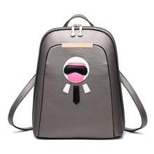 Корейский стиль Дамские туфли из PU искусственной кожи Школьный Рюкзак Мода Досуг многофункциональный Женская сумочка Мода девочка рюкзака высокое качество