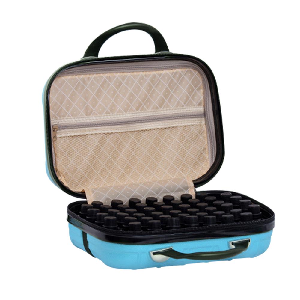 64 Compartment Essential Oil Bottle Travel Bag 15ML Portable Essential Oil Bottle Organizer Case 36