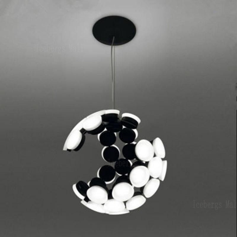№Diseño nórdico incompleta esfera LED Lámparas colgantes