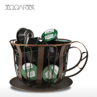 TOOARTS Metal Coffee Pod Container Bowl Espresso Pod Holder Coffee Mug Storage Jar Kitchen Basket Home Decoration Acessory