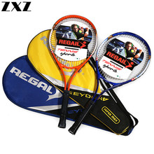 Carbon Aluminum Alloy Adult Training Tennis Racquet Fiber Racquets Head Original Woman or Man Tenis Racket with Bag Grip Bracers(China)