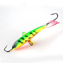 FISH KING 1PC 16G 77MM Wobbler Crank With Hooks Winter Fishing Jig Head Jigging Lure Ice Fishing Bait Fishing Tackle 3D Eyes