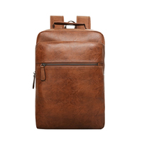 PU Leather School Bag Men Large Capacity Travelling Laptop Backpack Casual Luxury Quality Men S Bags