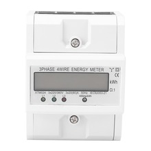 Three Phase Electric Meter Digital LCD 3 x 20(80A) Three Phase Four Wire DIN-Rail KWh Electronic Energy Meter Measurement Tool 3ld2y frame size120 120 low price lcd three phase measure fire monitor digital multifunction meter for industrial usage