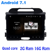 Quad core Android 7.1 car radio gps for kia sportage R 2010-2015 with 2G RAM wifi 4G USB RDS audio stereo mirror link NAVI