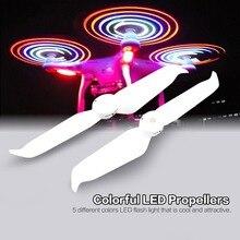 Low-Noise 9455 Lâminas Hélices de Liberação Rápida do Flash LED CW CCW Props para DJI Fantasma 3 SE Padrão Avançado RC Drone do navio Da Gota