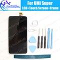 UMI Супер ЖК-Дисплей + Дигитайзер Сенсорным Экраном + Сборки Рамы 100% оригинальный Новый LCD + Сенсорный Дигитайзер для UMI Супер + Инструменты