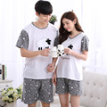 1067 Short sleeves suit Couples sheep pattern Sleepwear