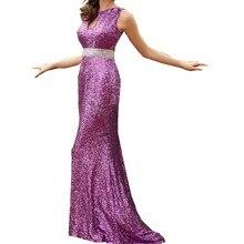 Elegant Purple Sequin Evening Dress 2016 Sexy Beaded Open Back Black Gold Mermaid Dresses Long Gowns Vestidos De Noche