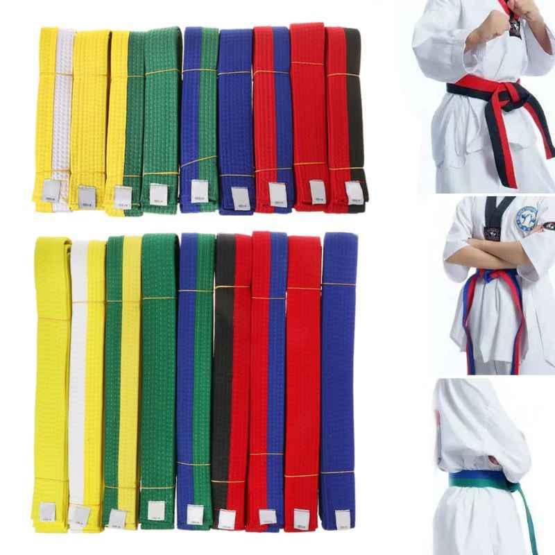 9 farben Professionelle Taekwondo Gürtel Karate Judo Doppel Wrap Kampfkunst Streifen Sport Gürtel 1,8 m/2,8 m