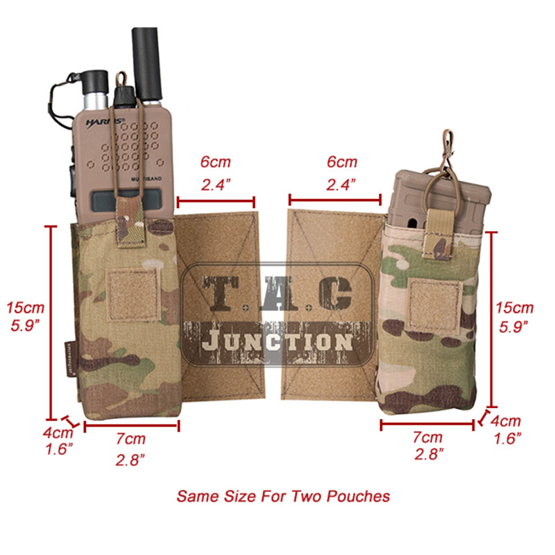 Image 5 - Emerson Tactical MBITR Radio Pouch and  M4 Magazine Pouch Combo with Hook & Loop Multicam-in Pouches from Sports & Entertainment