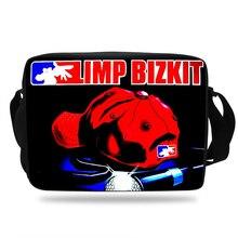 Fashion Limp Bizkit Design School Bags For Teenage Boys Girls Crossbody Bags Children Messenger Bag Shoulder Bag