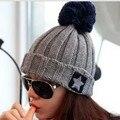 Корейской версии пяти-звездочный керлинг большой шерсти вязать шляпа шерсть шляпа осенью и зимой прилива женщин Skullies & шапочки