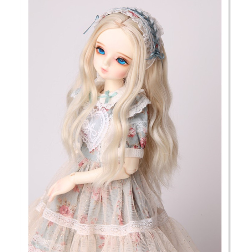 Synthetic Doll Hair Long Wavy BJD Wigs for Dolls Accessories,Beautiful Curly Wig 1/4 1/6 BJD Doll Hair for Dolls